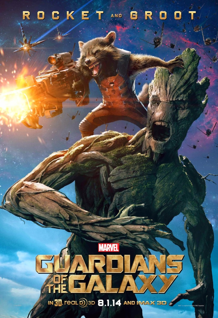 Fan-favourites Bradley Cooper and Vin Diesel as Rocket Racoon and Groot - hands down the crowd favourites (for good reason), one of the best buddy-teams ever created!