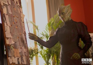 Madame Vastra doin' her thing.