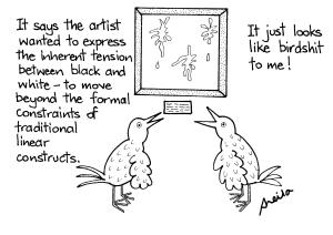 """How a philistine like me views most """"art"""" - oh how we malign those poor Philistines..."""