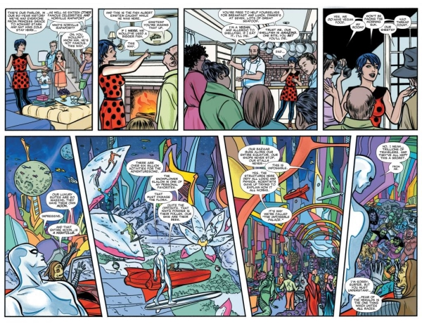 Allred's Silver Surfer - a double spread.