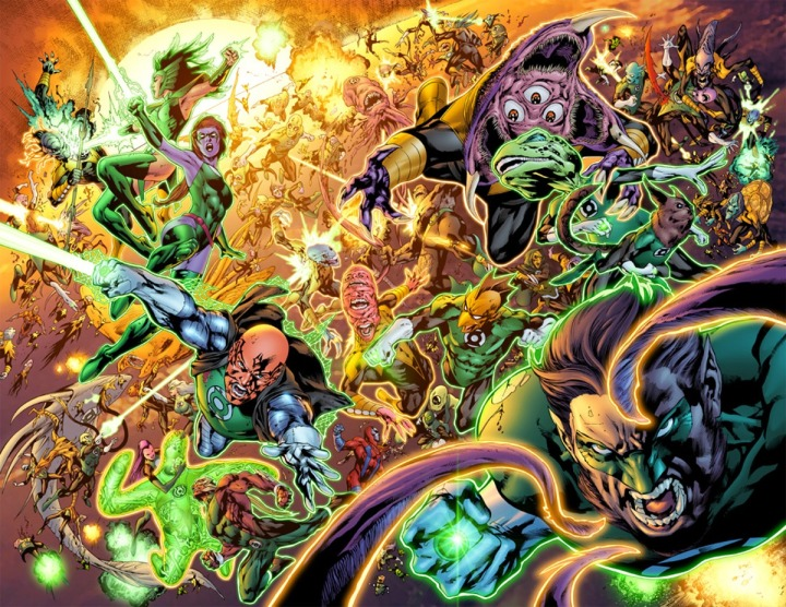 The Sinestro Corps War was so massive it literally covered the known Universe! That takes skill!