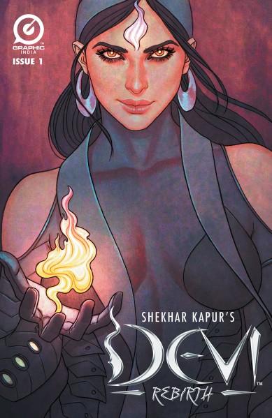 Copertina di Devi: Rebirth #1 (Graphic India). Disegni di Jenny Frison